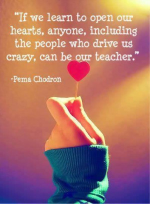 ... the people who drive us crazy, can be our teacher. ~Pena Chodron