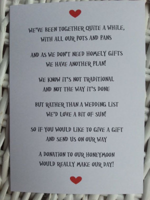 wedding poem money as a gift 3 different poems wedding poem money as a ...