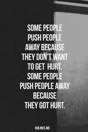 Pushing people away