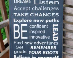 ... Graduation Gift, Inspirational Sign, New Job Gift, Inspirational Quote
