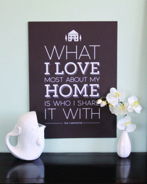 New larger version of Home Quote print from Design Sponge interview. 1 ...
