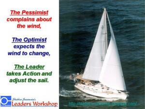 Motivational Poster: The Leader Adjust the Sails