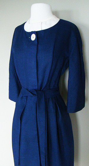 BLUE 1960's COAT DRESS