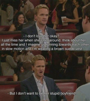 barney, food, how i met your mother, love, neil patrick, quote, text