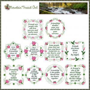 ... Quote Sets :: Wild Irish Rose Friendship Quotes 'N Quilt Block Set 1