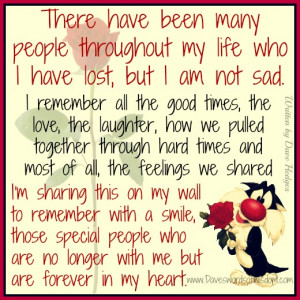 There have been many people throughout my life