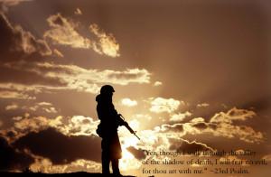 Psalm 23 – I Will Fear No Evil Papel de Parede Imagem