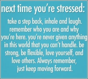 Remember when you are stressed.....