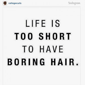 But when the going gets tough... just remember that your natural hair ...