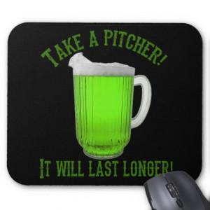 Funny Irish Green Beer Mousepad
