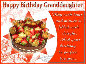 Granddaughter Birthday Quotes Wishing happy birthday to a