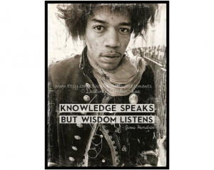 Jimi Hendrix Quote Art Print / High Quality Poster