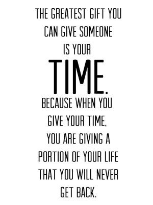 The value of ones time