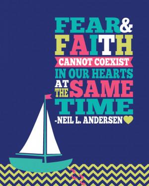 Fear and Faith Cannot Coexist