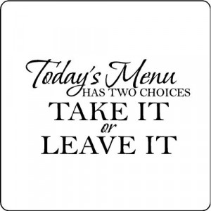 Todays menu.Kitchen Wall Words Quotes Sayings