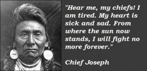 Chief joseph famous quotes 2
