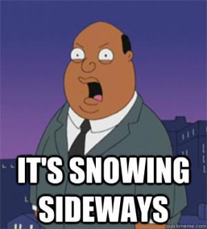 it's snowing sideways - it's snowing sideways Ollie Williams