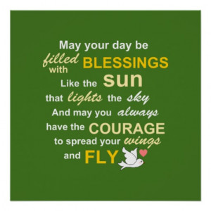 irish_blessing_for_courage_typography_in_green_poster ...
