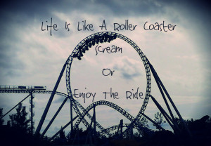 Life Is Like A Roller Coaster. Scream or Enjoy The Ride.