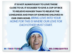 Mother Teresa Quotes to Live By