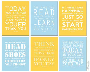 Dr Seuss Quotes Kids Nursery Print PERSONALIZED by ofCarola, $43.00