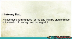 Self-esteem - I hate my Dad.
