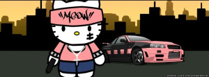 Hello Kitty Gangster . Hello Kitty with meow written on her pink ...