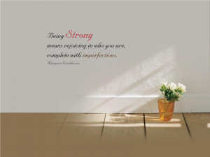 Being Strong Inspirational Quote wallpaper