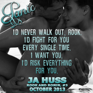 COVER REVEAL: PANIC by JA HUSS, Rook & Ronin #3 --presented by ...