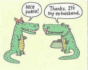purse, ex-husband, alligator