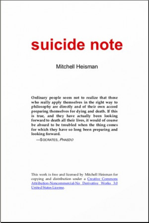 Sad Suicide Notes Suicide note · other editions