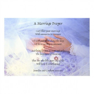 MARRIAGE PRAYER inspirational poem and words. FREE POSTAGE