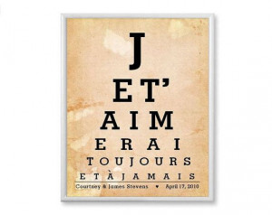 Love You Forever and Ever French Quote Art by PaperPlanePrints, $20 ...