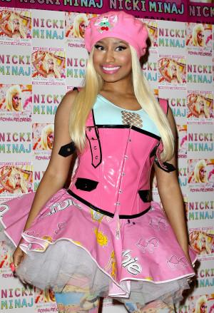 Nicki Minaj crazy outfit london