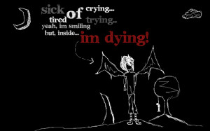 Sick of everything. Black. by Wantted