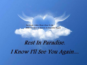 Rest in paradise Velda, I love you and will carry you the rest of my ...