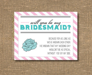 You Be My Bridesmaid Card / Will You Be My Maid of Honor / Bridesmaid ...