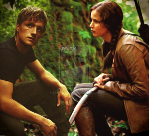 katniss,peeta and gale Katniss and Peeta