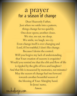 prayer for a season of change