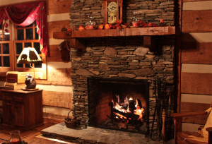 Cozy Fireplace Latter Above...
