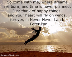 fly on wings forever in never never land peter pan