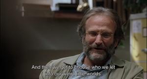 ... Sean Maguire (Robin Williams) y el genio matemático Will Hunting