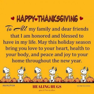 Happy Thanksgiving Family ad Friends