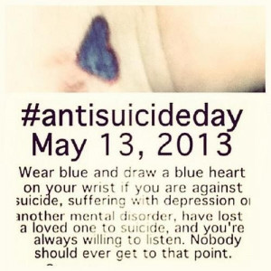 Anti suicide day