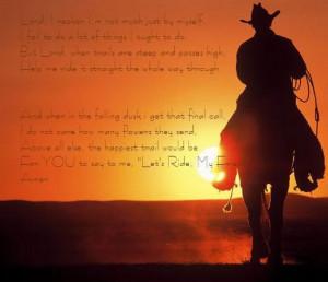 Christian cowboy/ western sayings?