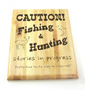 Hunting Fishing Wall Art - Creative Wood Pyrography - Funny Quote Wall ...