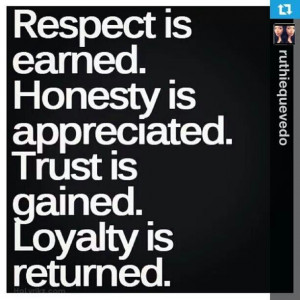 Respect, Honesty,Trust, Loyalty Lifelessons, Inspiration, Quotes ...