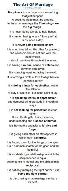 wonderful poem by Wilferd A. Peterson about the art of marriage. It ...