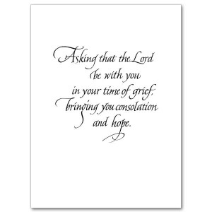 Prayer Sympathy Card
