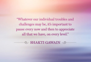 Shakti Gawain gratitude quote